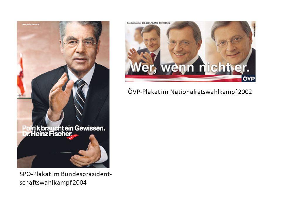 ÖVP-Plakat im Nationalratswahlkampf 2002