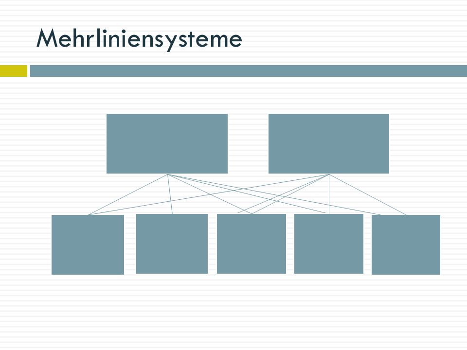 Mehrliniensysteme Vorteil: kurze Infoweg,