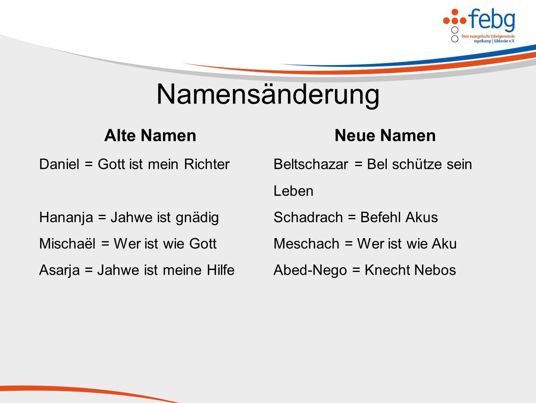 Namensänderung Alte Namen Neue Namen