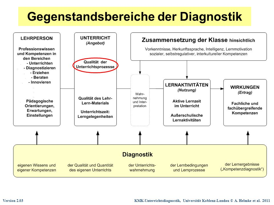 Gegenstandsbereiche der Diagnostik