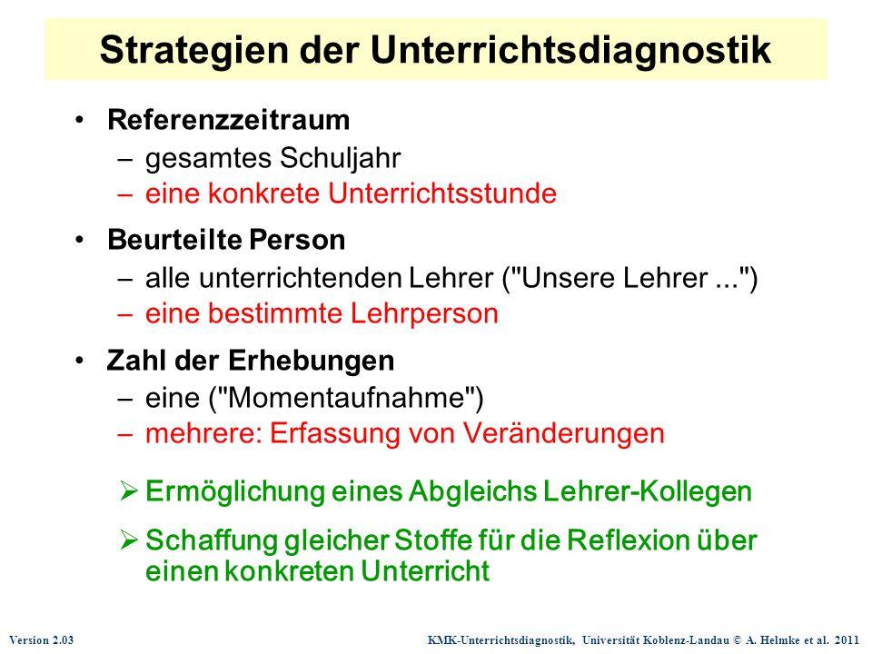 Strategien der Unterrichtsdiagnostik