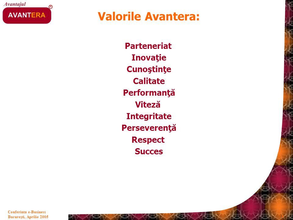 Valorile Avantera: Parteneriat Inovaţie Cunoştinţe Calitate