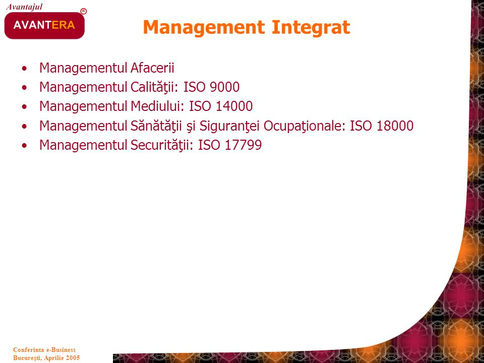 Management Integrat Managementul Afacerii