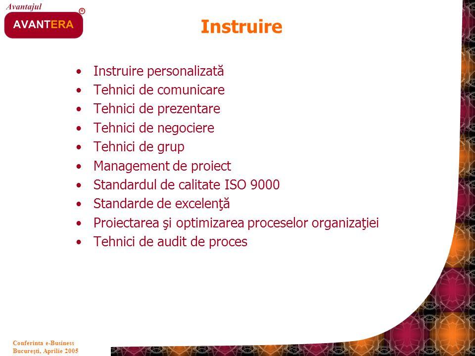 Instruire Instruire personalizată Tehnici de comunicare