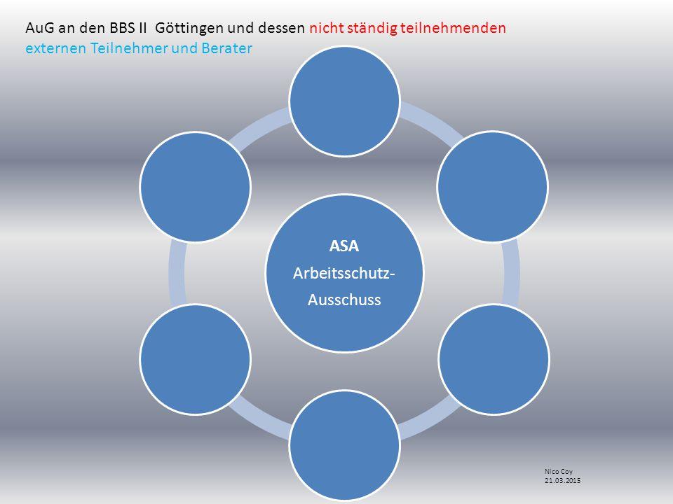 ASA Arbeitsschutz- Ausschuss