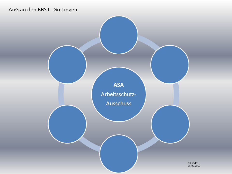 ASA Arbeitsschutz- Ausschuss AuG an den BBS II Göttingen Nico Coy