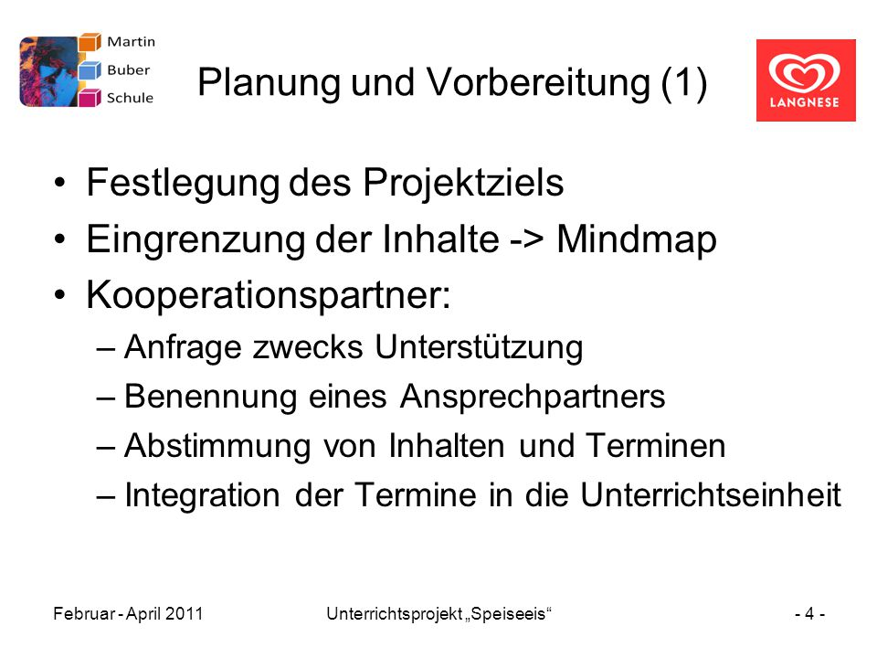 Planung und Vorbereitung (1)