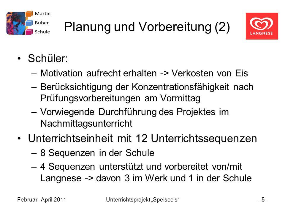 Planung und Vorbereitung (2)