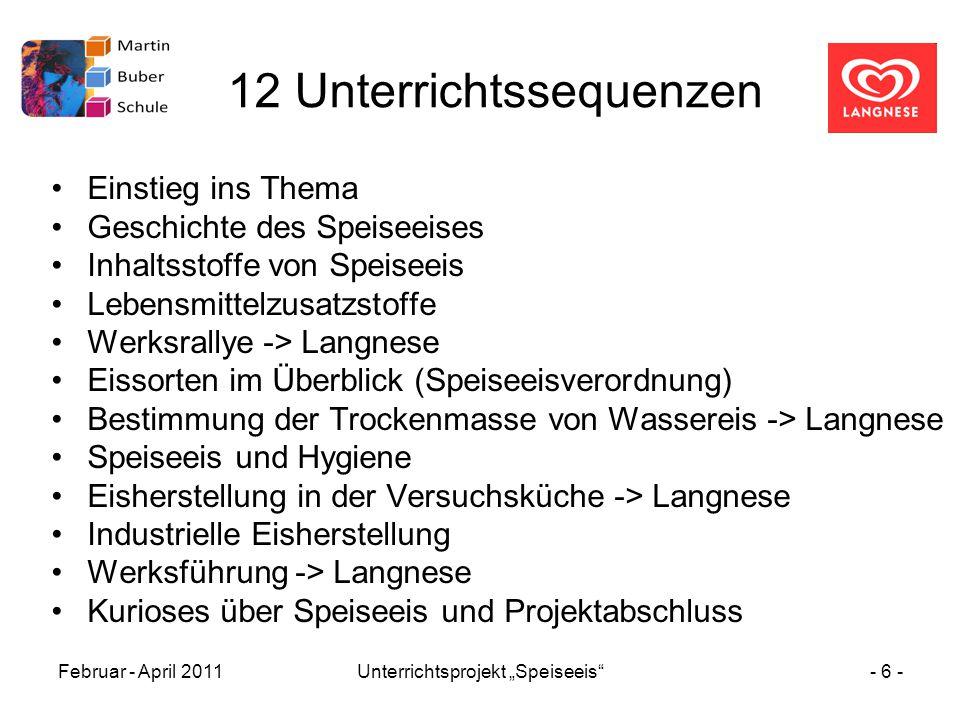 12 Unterrichtssequenzen