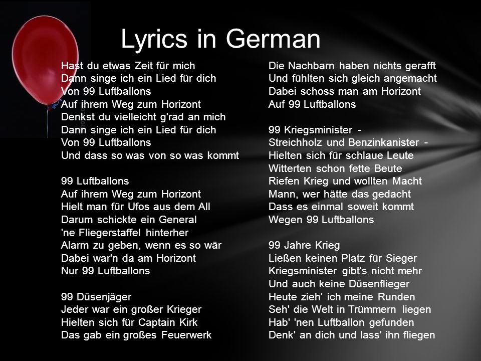 Lyrics in German