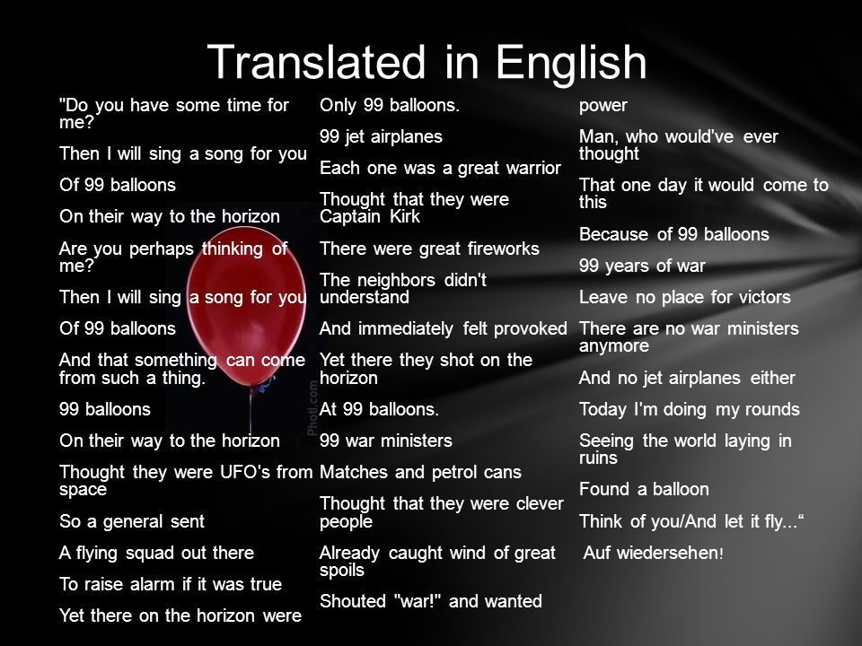 Translated in English