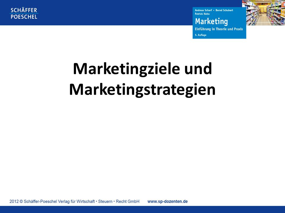 Marketingziele und Marketingstrategien