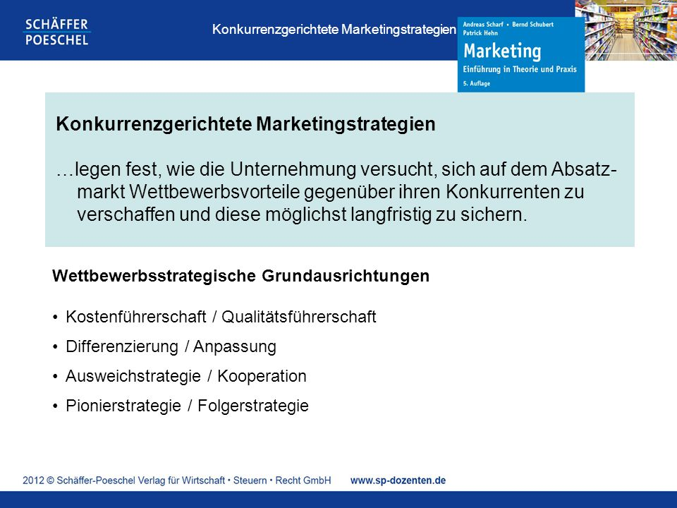 Konkurrenzgerichtete Marketingstrategien