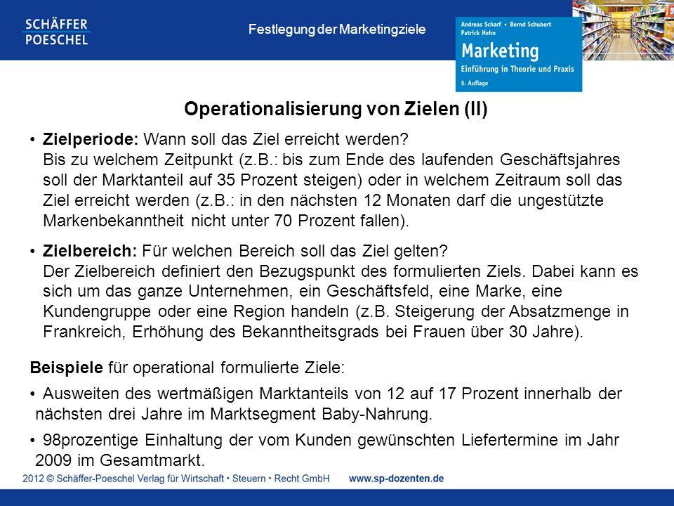 Operationalisierung von Zielen (II)