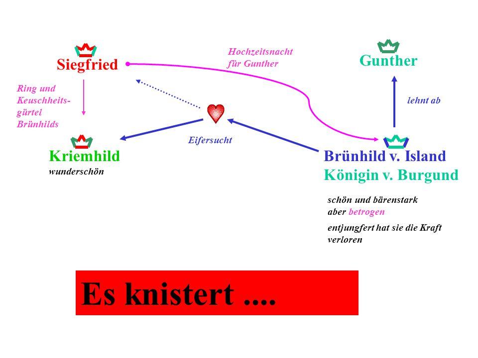 Es knistert .... Gunther Siegfried Kriemhild wunderschön