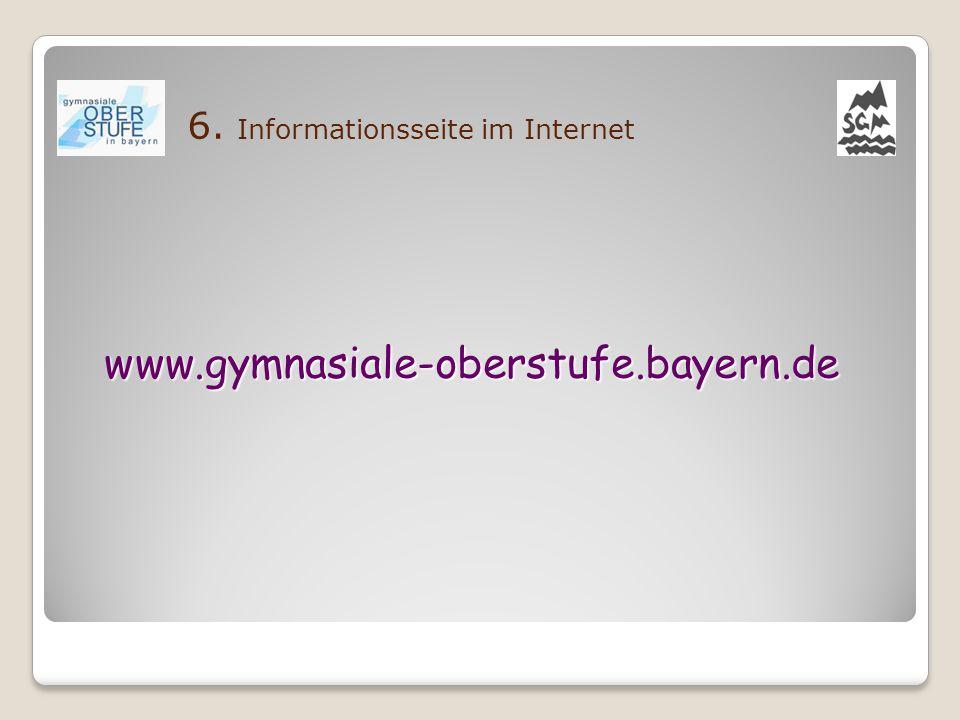 6. Informationsseite im Internet