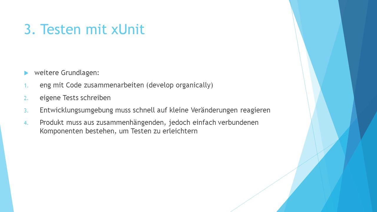 3. Testen mit xUnit weitere Grundlagen:
