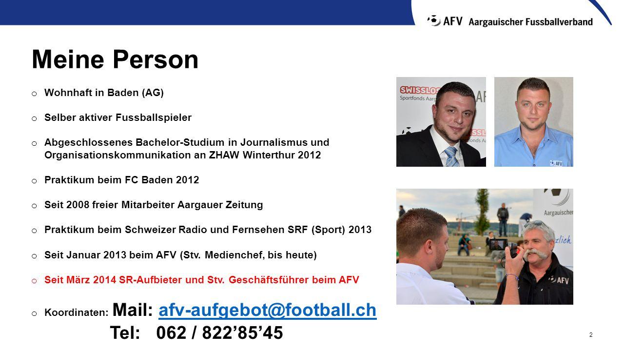 Meine Person Tel: 062 / 822'85'45 Wohnhaft in Baden (AG)