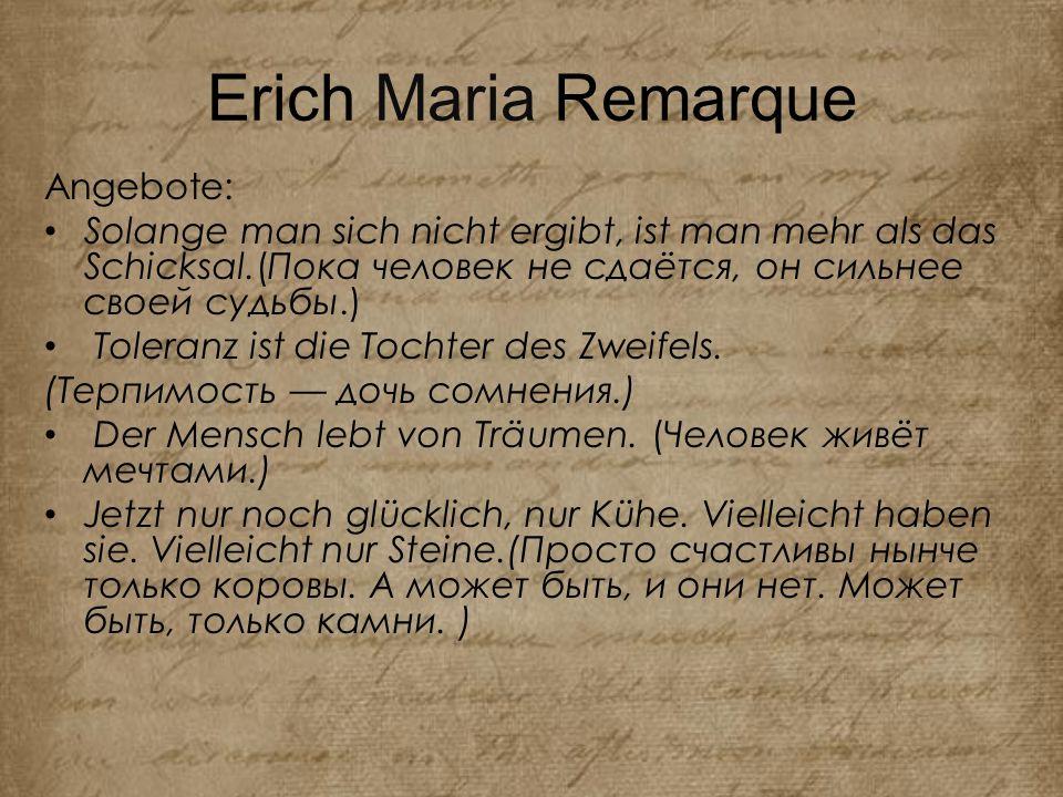Erich Maria Remarque Angebote:
