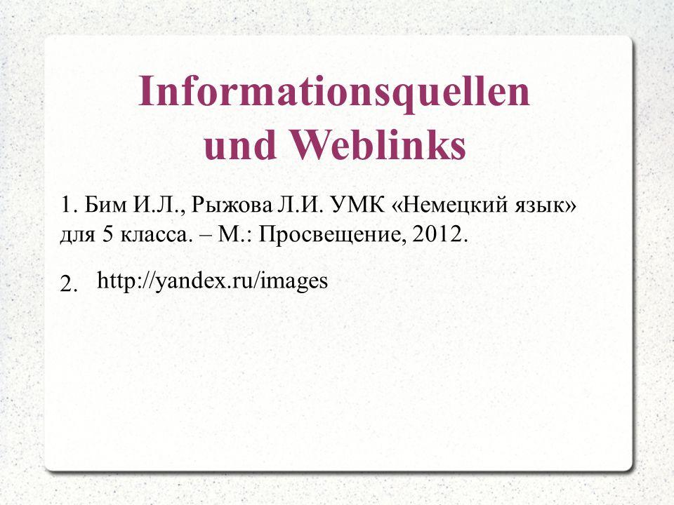 Informationsquellen und Weblinks