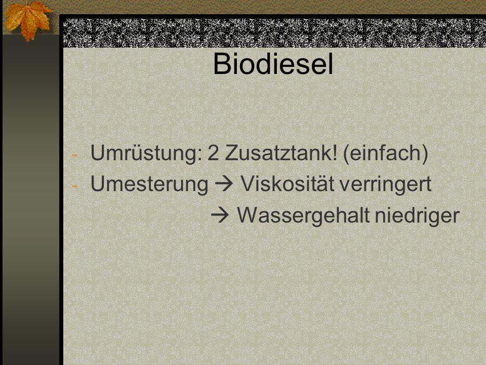 Biodiesel Umrüstung: 2 Zusatztank! (einfach)