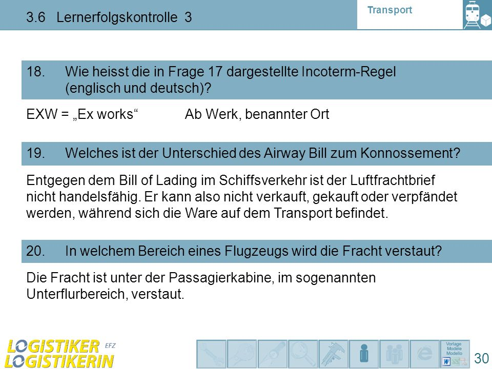 3.6 Lernerfolgskontrolle 3