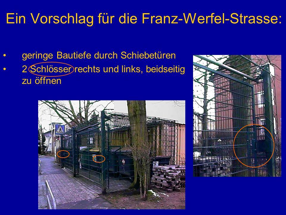 Ein Vorschlag für die Franz-Werfel-Strasse: