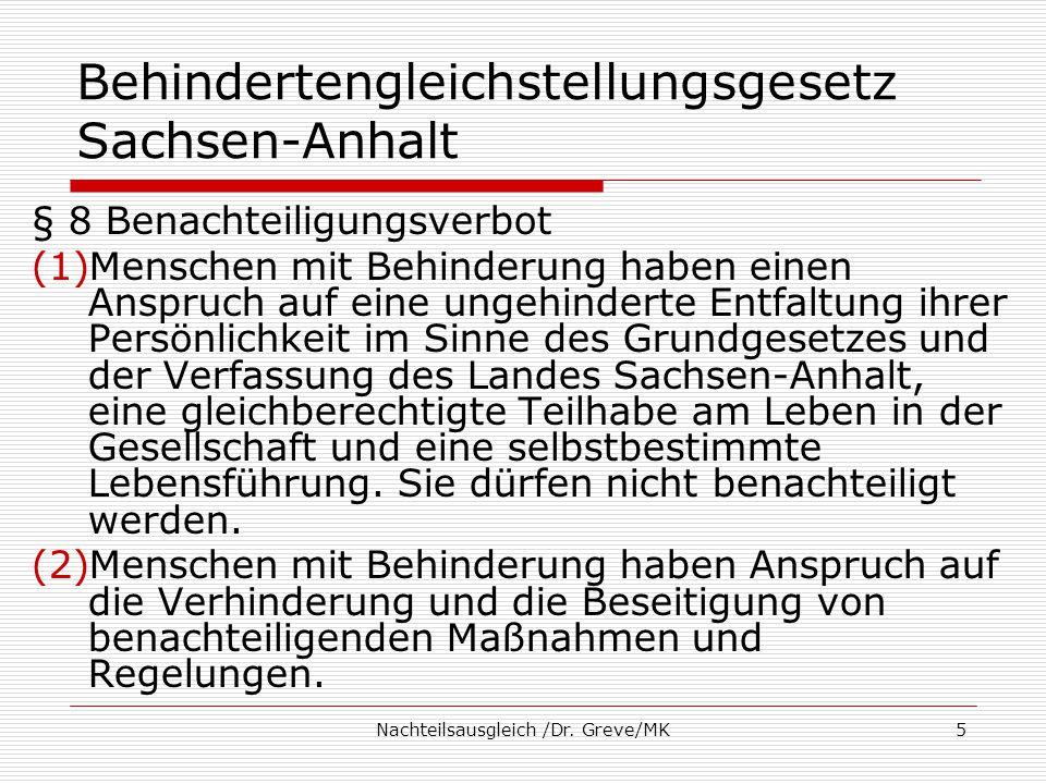 Behindertengleichstellungsgesetz Sachsen-Anhalt