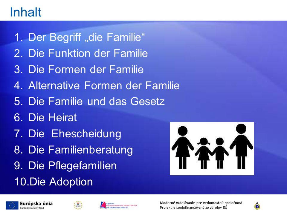 """Inhalt Der Begriff """"die Familie Die Funktion der Familie"""