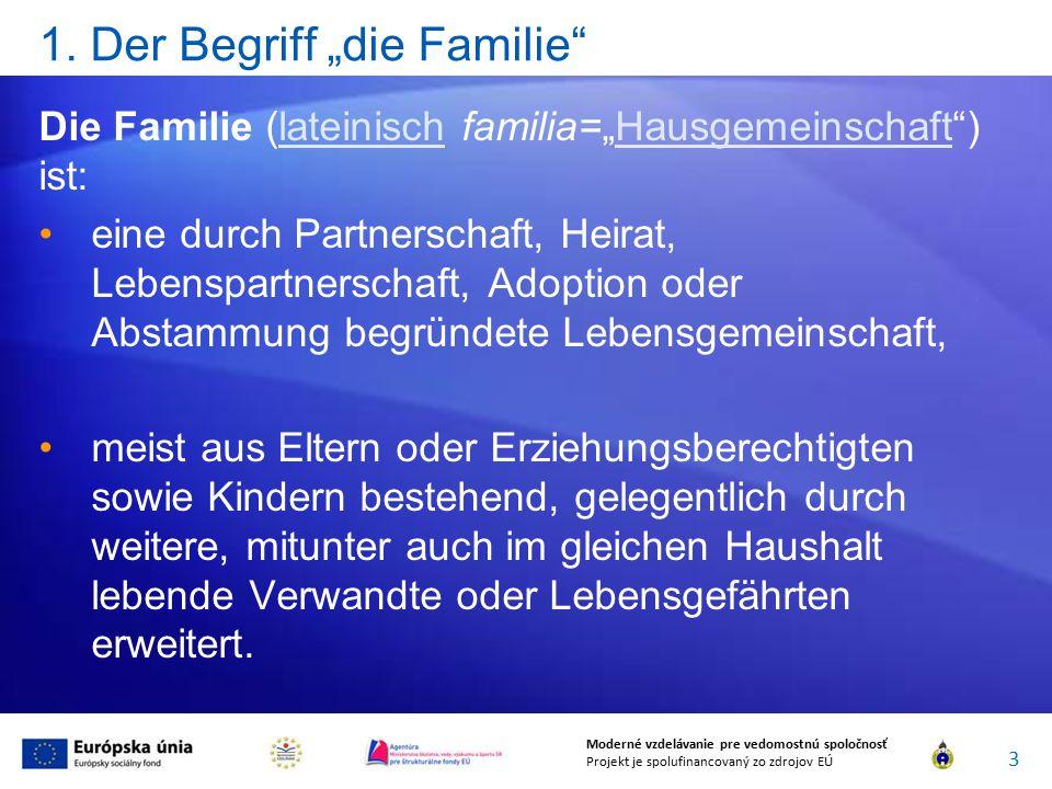 """1. Der Begriff """"die Familie"""