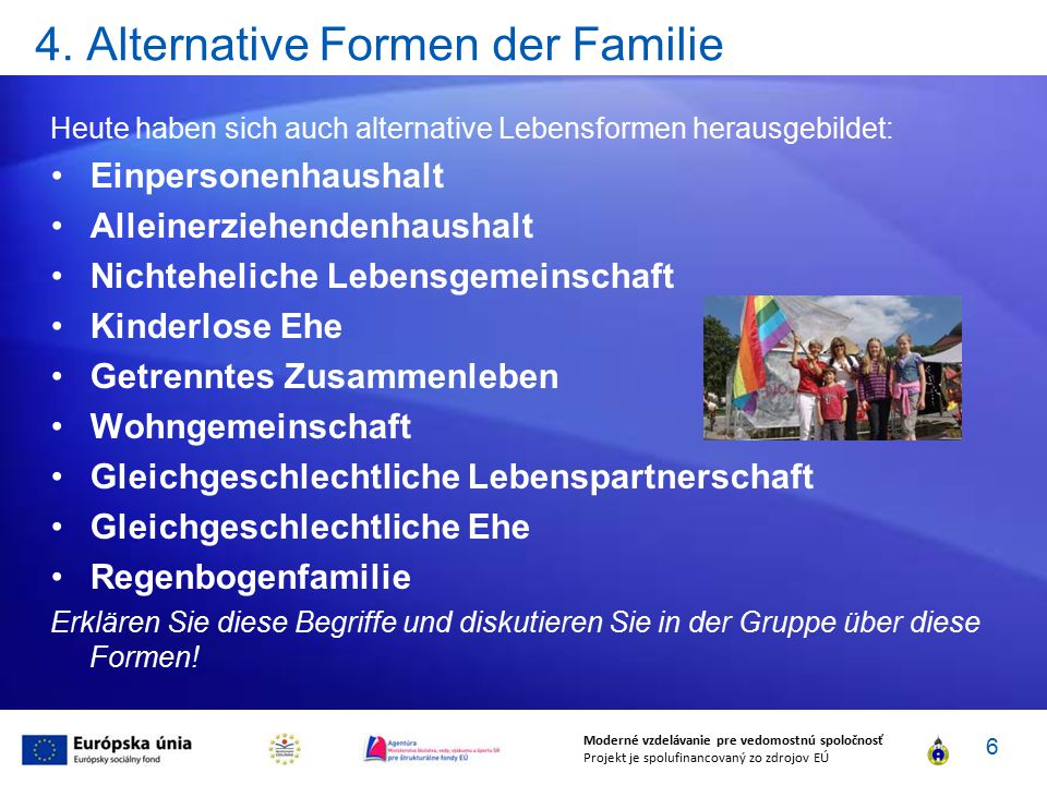 4. Alternative Formen der Familie