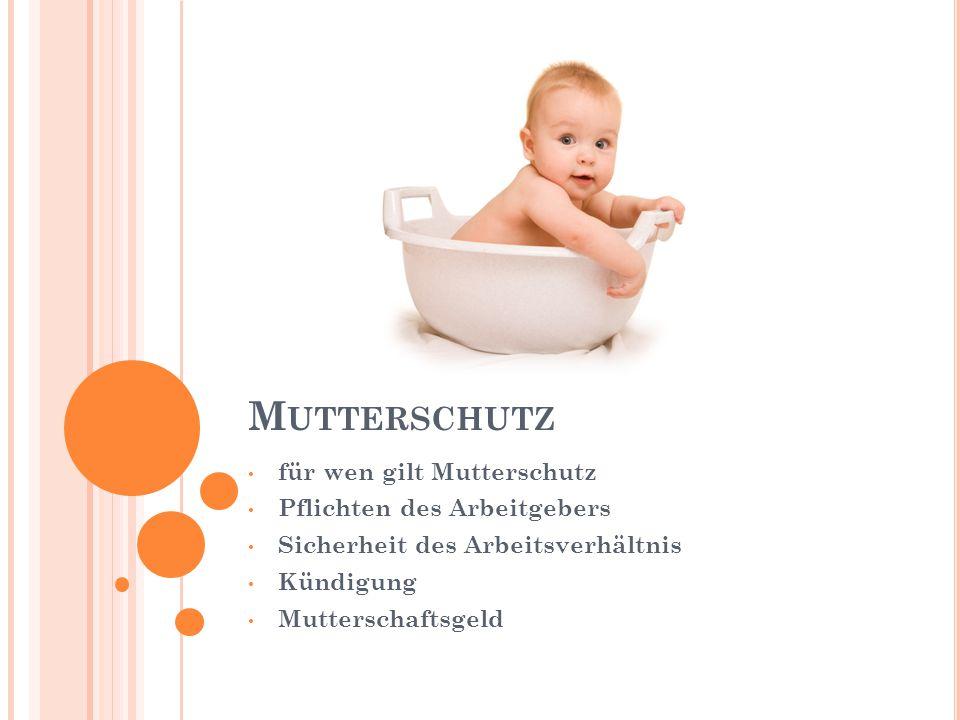 Mutterschutz für wen gilt Mutterschutz Pflichten des Arbeitgebers