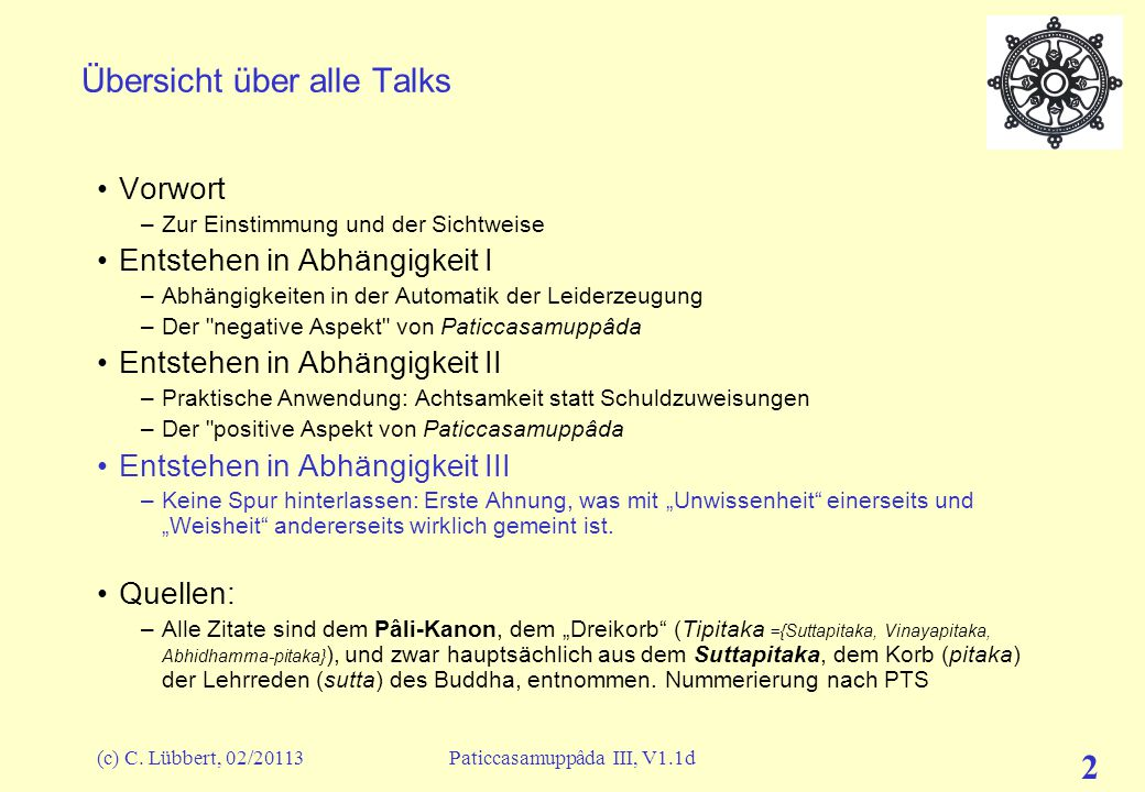 Übersicht über alle Talks