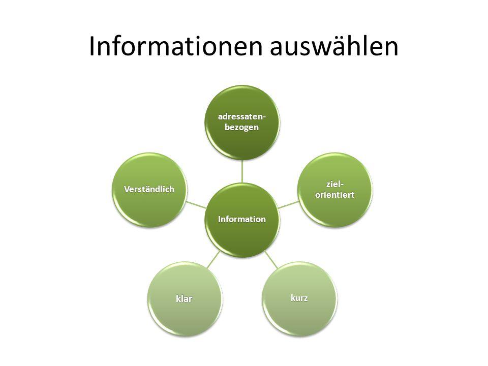 Informationen auswählen