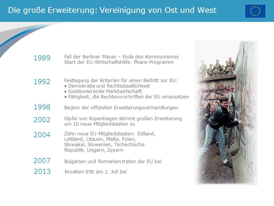 Die große Erweiterung: Vereinigung von Ost und West
