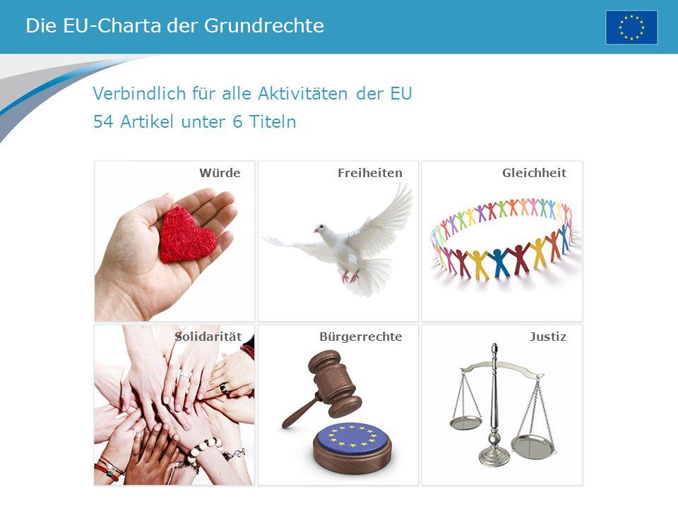 Die EU-Charta der Grundrechte