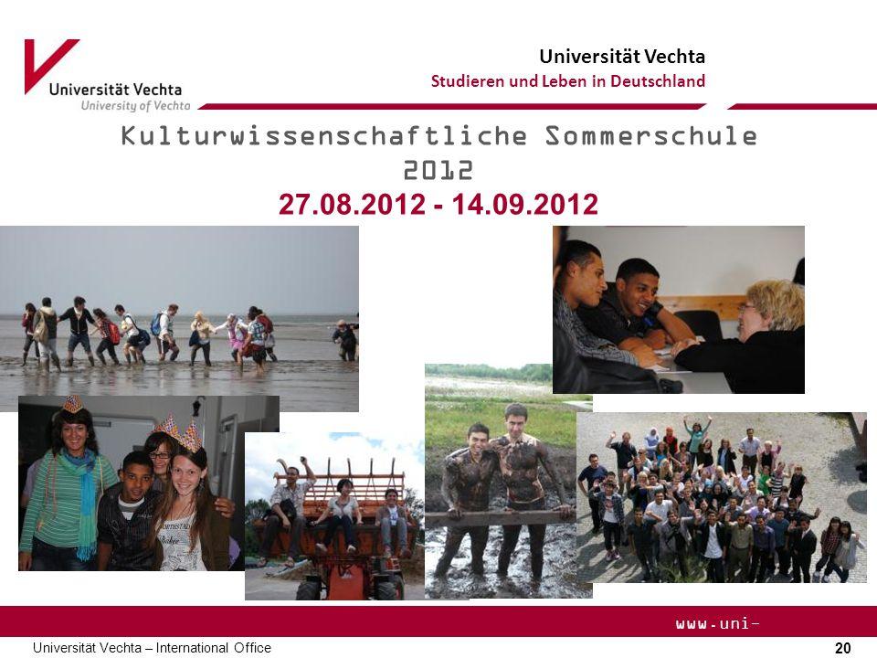 Kulturwissenschaftliche Sommerschule 2012
