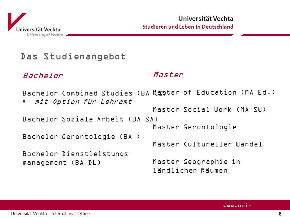 Das Studienangebot Bachelor Master Bachelor Combined Studies (BA CS)