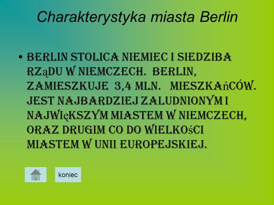 Charakterystyka miasta Berlin