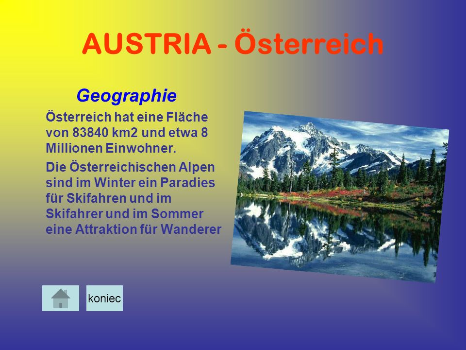 AUSTRIA - Österreich Geographie