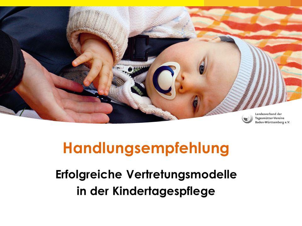 Erfolgreiche Vertretungsmodelle in der Kindertagespflege