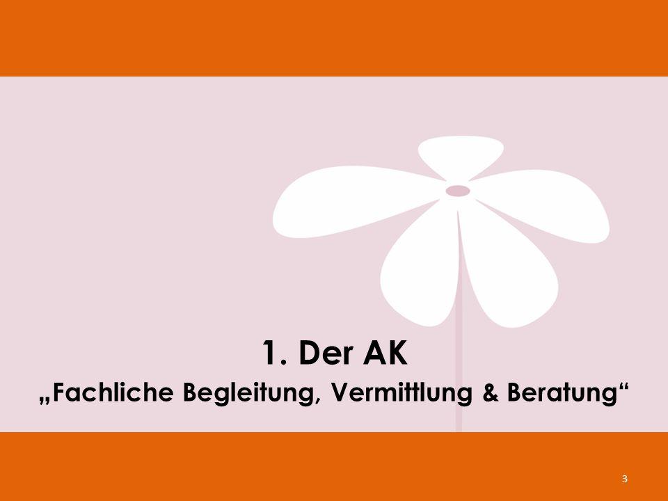 """1. Der AK """"Fachliche Begleitung, Vermittlung & Beratung"""