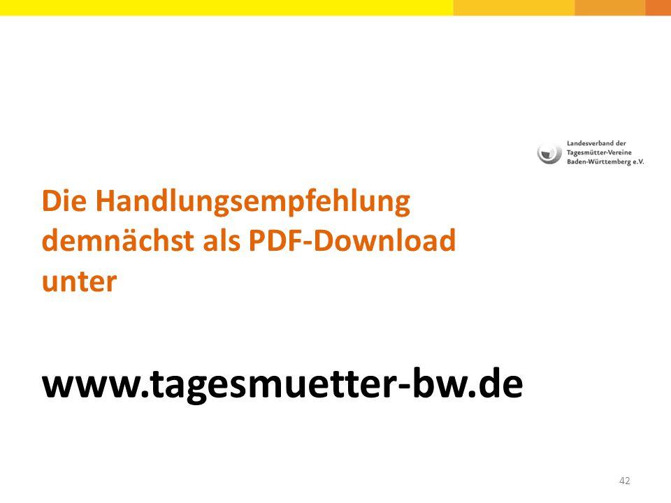Die Handlungsempfehlung demnächst als PDF-Download unter
