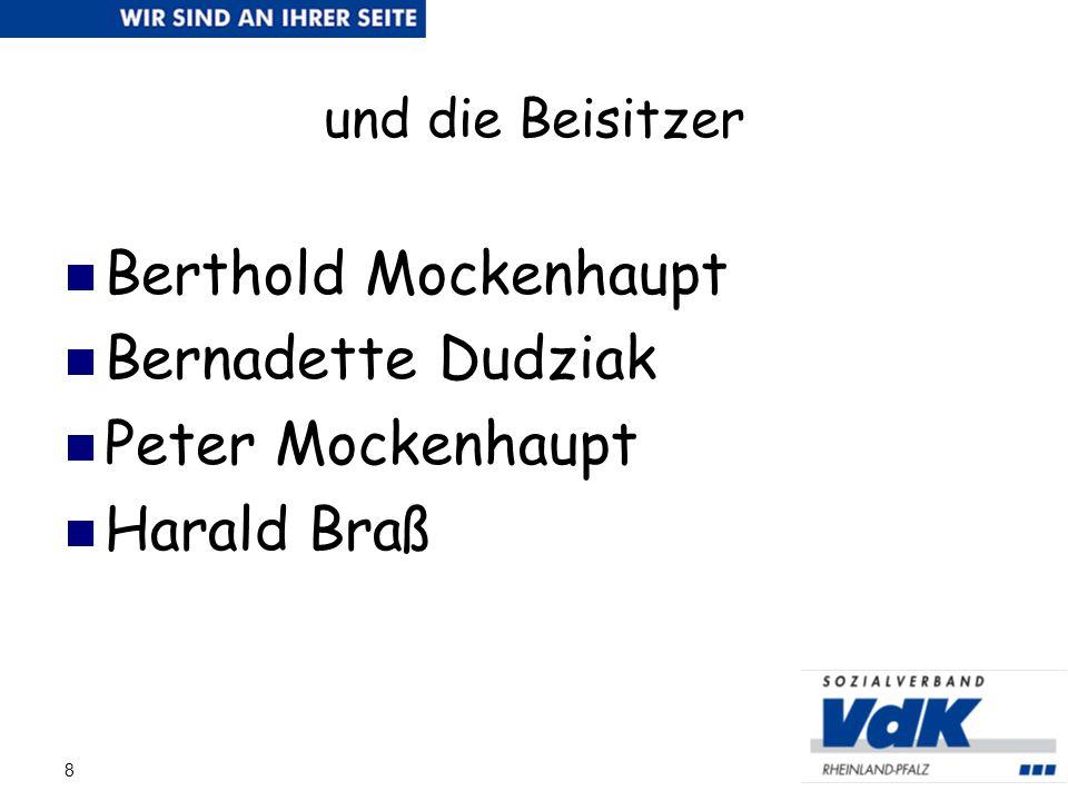 Berthold Mockenhaupt Bernadette Dudziak Peter Mockenhaupt Harald Braß