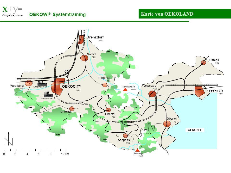 x+y= Karte von OEKOLAND OEKOWI® Systemtraining Grenzdorf OEKOCITY