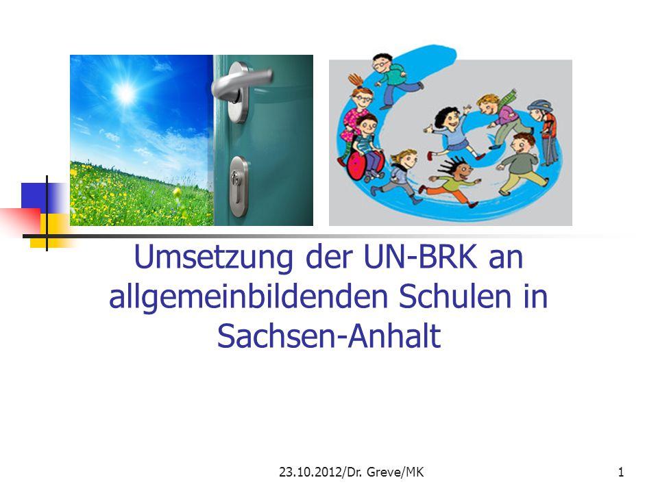 Umsetzung der UN-BRK an allgemeinbildenden Schulen in Sachsen-Anhalt