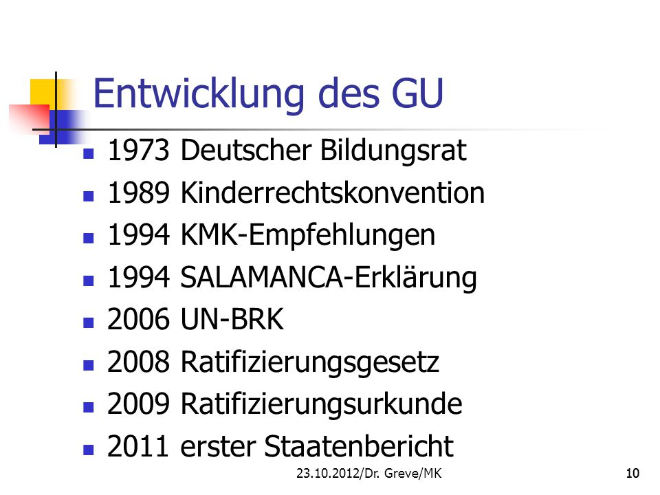 Entwicklung des GU 1973 Deutscher Bildungsrat