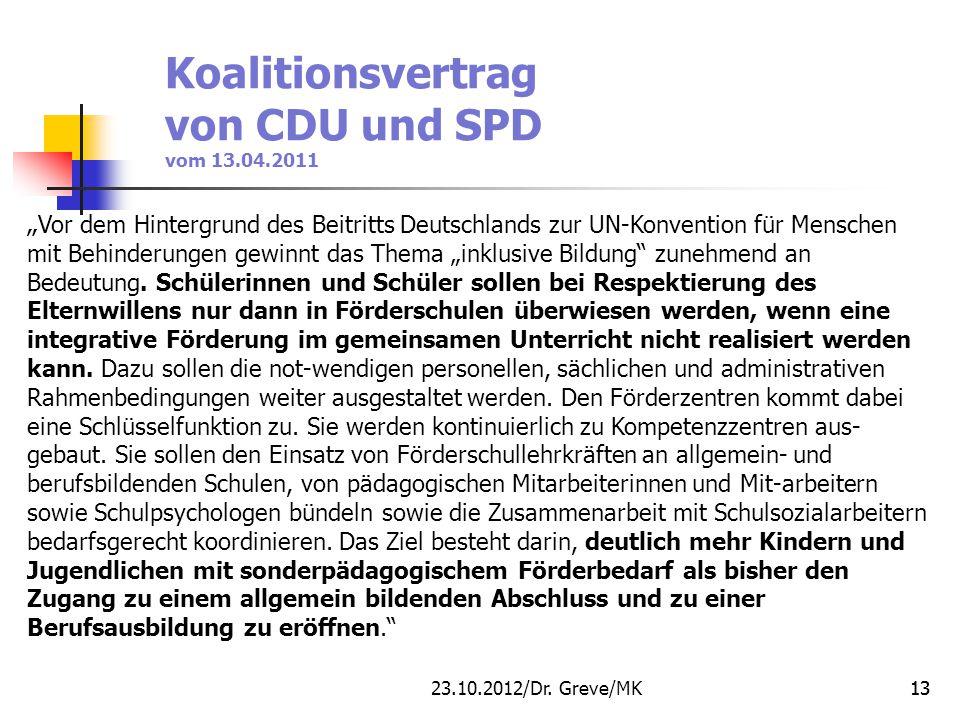 Koalitionsvertrag von CDU und SPD vom 13.04.2011