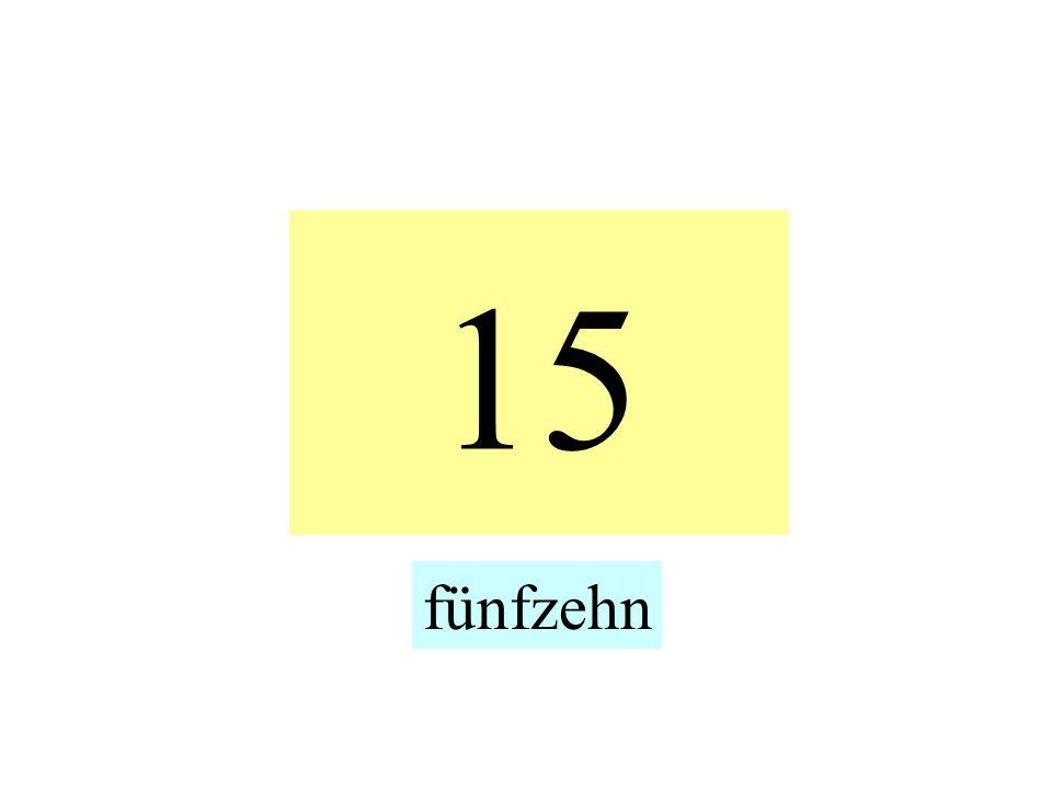 15 fünfzehn