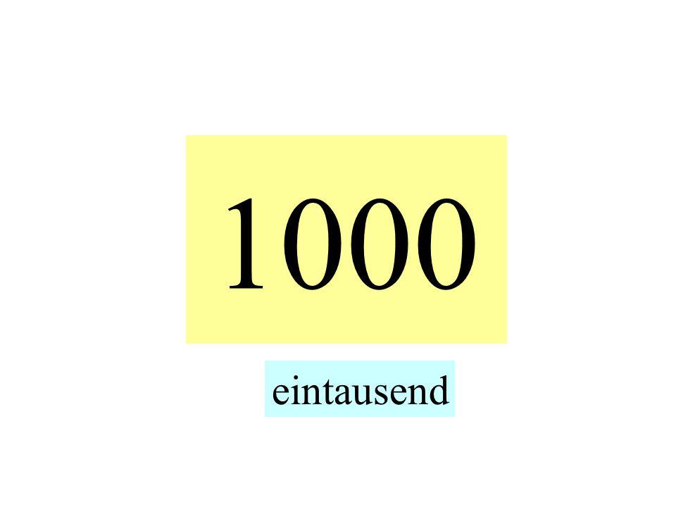 1000 eintausend